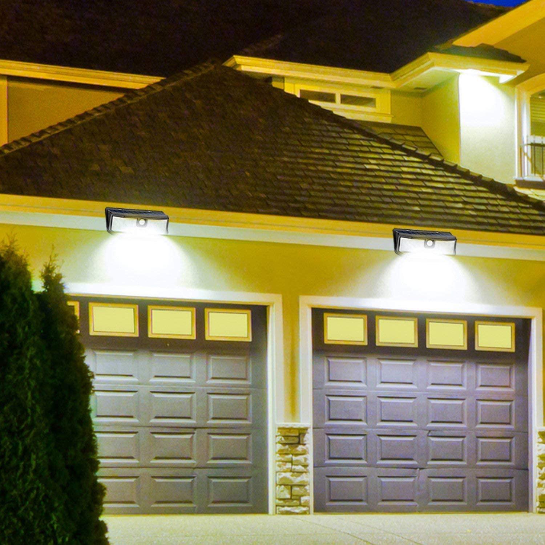 Solar LED Wall Pack Light with Motion Sensor