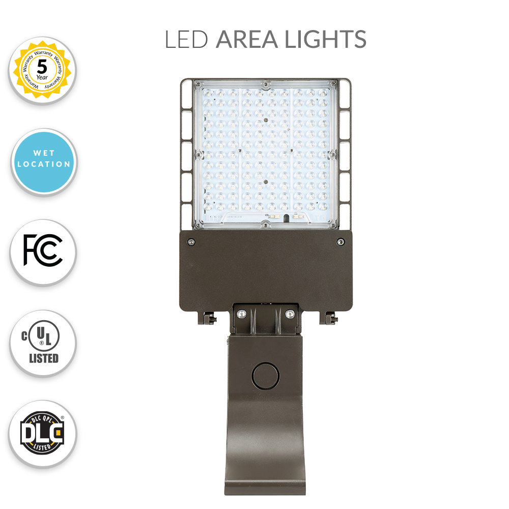 40 Watt LED Parking Lot Light 5000K Color Temperature with Pole Mount