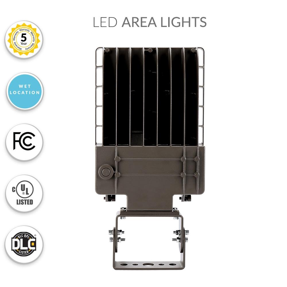 40 Watt LED Parking Lot Light 5000K Color Temperature with Trunnion