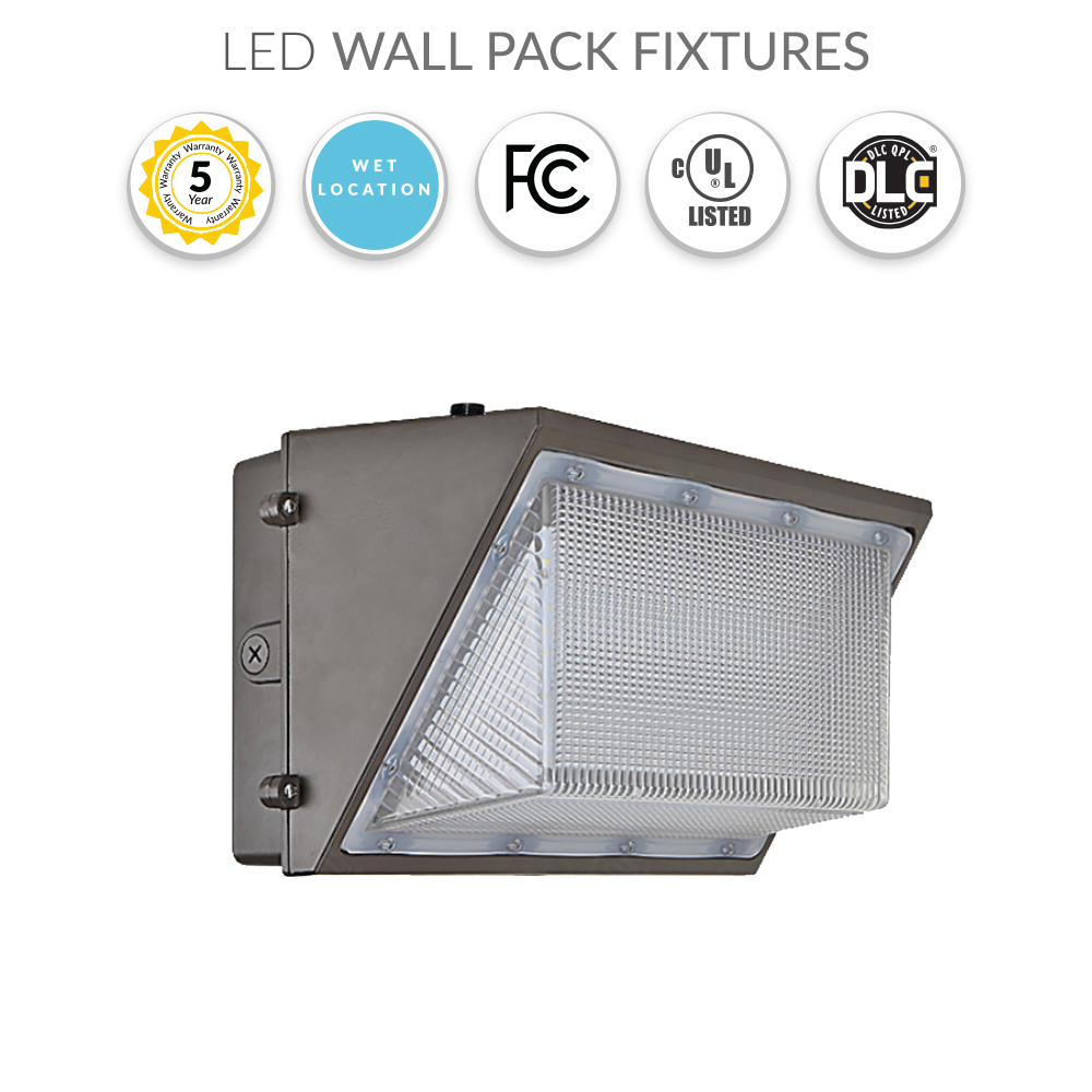 LED Security Light Wall Pack 30 Watt with Photocell Replaces 100W - 3400 Lumens - 5000K
