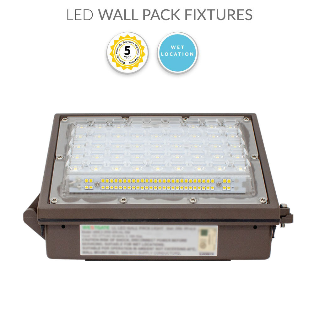 LED Security Light Wall Pack 30 Watt with Photocell Replaces 100W - 3500 Lumens - 3000K