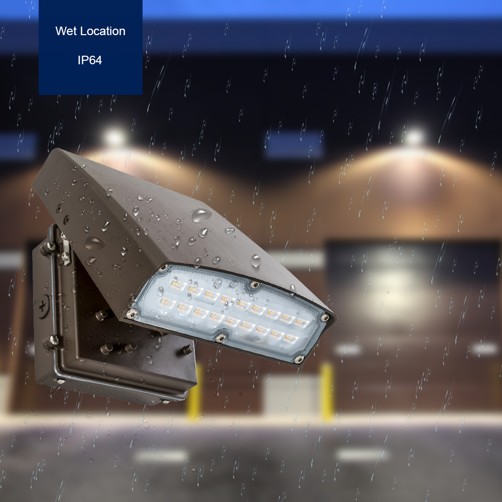 Adjustable LED Wall Pack  - Can Be Used as a Flood or Cut Off Wall Pack, 30 Watt, 3000 Lumens, 5000K
