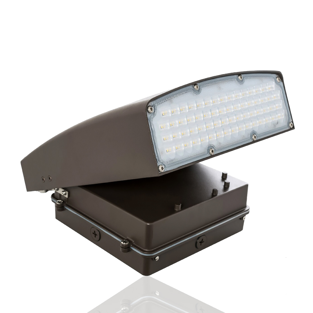 Adjustable LED Wall Pack  - Can Be Used as a Flood or Cut Off Wall Pack, 80 Watt, 8800 Lumens, 3000K