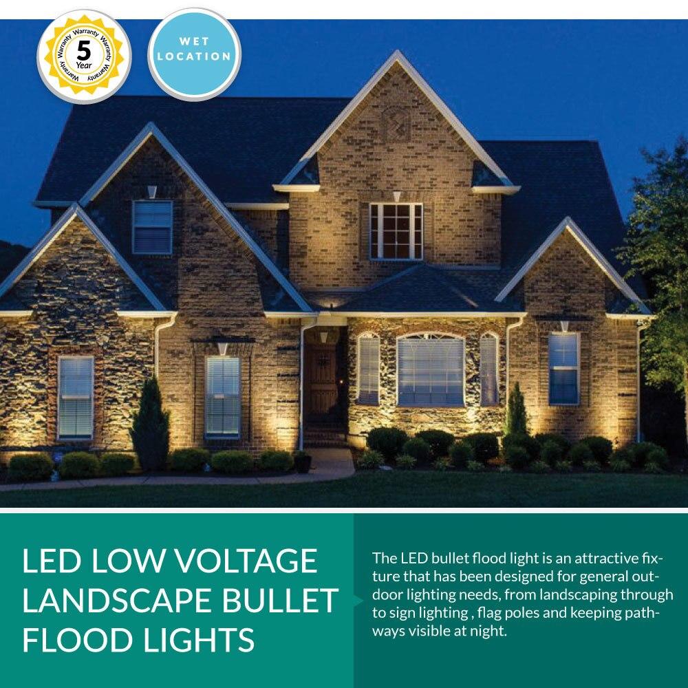 12 Volt LED Landscape Bullet Flood Light - 12 Watt , 1300LM, 5000K Daylight