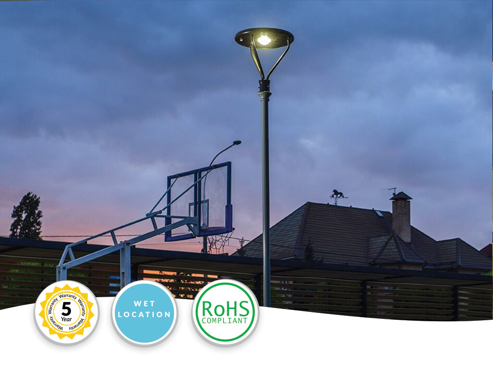 Solar LED Pole Top Lights - Extremely Bright - Commercial Grade - 25 Watt - 4000 Lumen Output