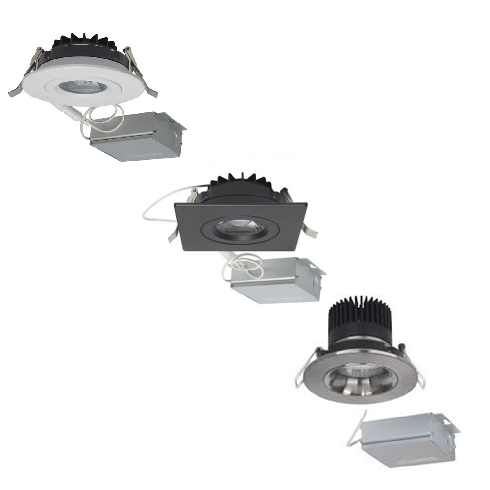 Ultra Thin Recessed 3 Inch LED Downlight Fixtures - Choose White, Black, Or Brushed Nickel Housing