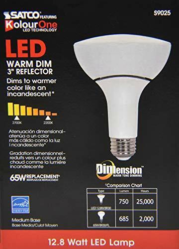 2700K BR30 Warm Glow Dimming LED Flood Bulb, 12 Watt, 750 Lumens Medium base