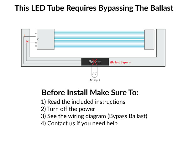 PL-L LED 2G11 Base - 23 Watt LED/CFL Ballast Bypass Replacement For 4-Pin 40W PL-L