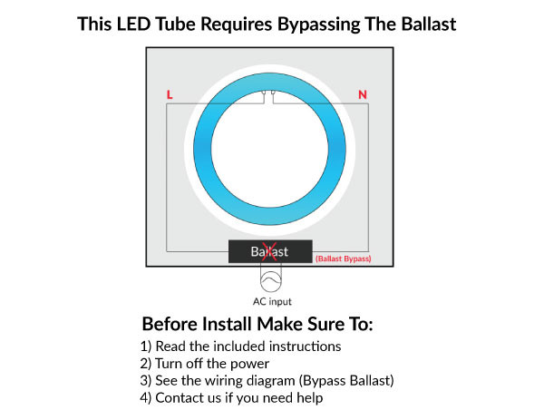 T9 Circular LED Bulb Replaces FC8T9  & FC12T9 - Available In 8 And 12 Inch Diameter