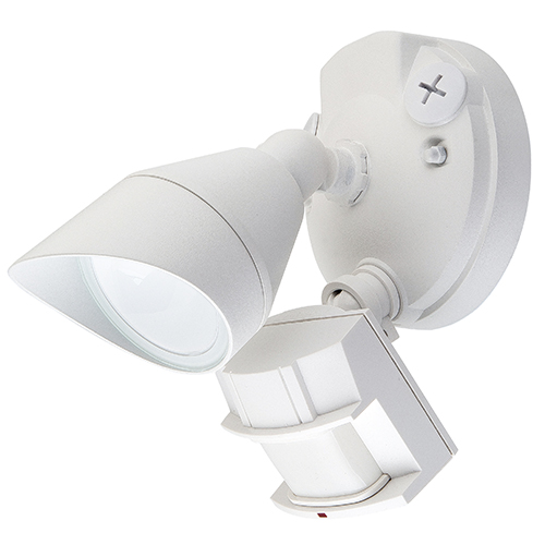 LED Security Motion Lights - One Head with Photocell and Motion Sensor- 12 Watt- 4000K Cool White - White - 1000 Lumens
