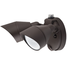 Outdoor LED Wall Lights with Photocell- Two Head - 25 Watt - 5000K Daylight - Bronze - 2100 Lumens