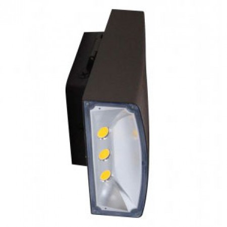LED Downlight Wall Pack  - Can Be Used as a Flood or Cut Off Wall Pack, 80 Watt, 6900 Lumens, 5000K  - NOT ADJUSTABLE