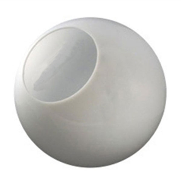 12 Inch Plastic Globe Neckless Opening White Acrylic