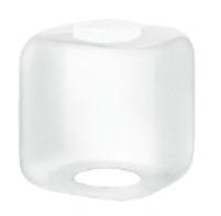 12 Inch Square Cube Diffuser White