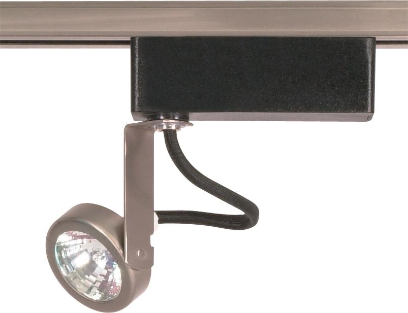 Mr16 - Brushed Nickel Track Head Only - 12 Volt Gimbal Ring Shape
