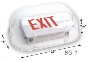 Polycarbonate Vandal Shield for EZXTE Exit Sign