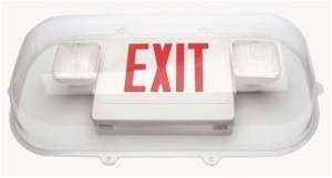 Polycarbonate Vandal Shield for Combo Emergency/ Exit Sign
