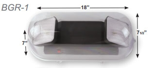 Polycarbonate Vandal Shield for Emergency Light