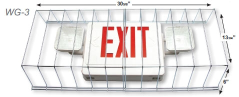Wire Guard for Exit/Emergency Combo Light