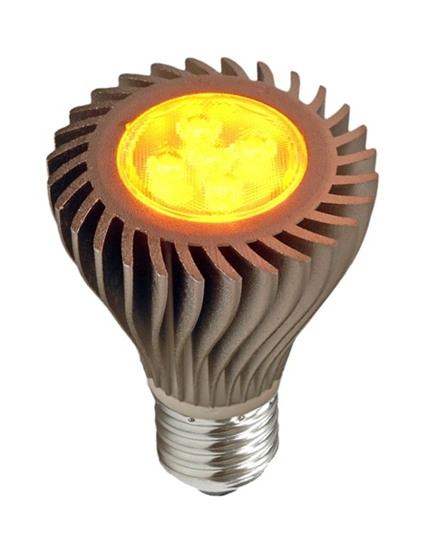 6 Watt Amber LED PAR20 With Medium Base - FWC Wildlife Lighting Certified