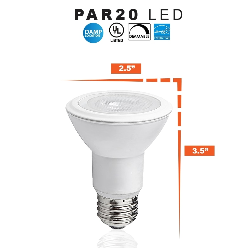 LED PAR20 8 Watt Dimmable (50W Replacement) Light Bulb, 3000K Soft White- 120 Volt