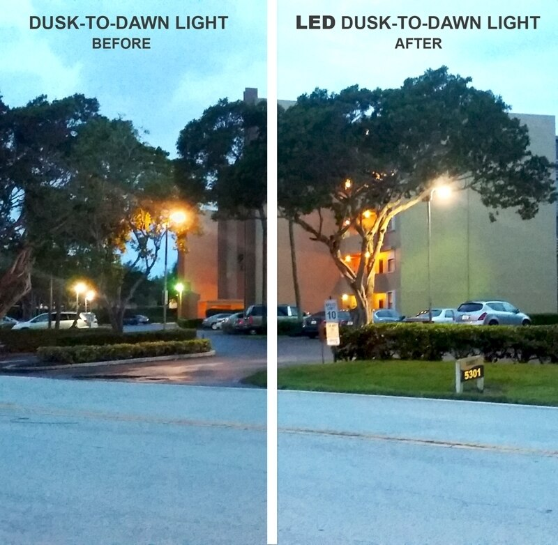 LED Dusk to Dawn Light with Photocell  -  Super Bright - Up to 70W and 10,000 Lumens