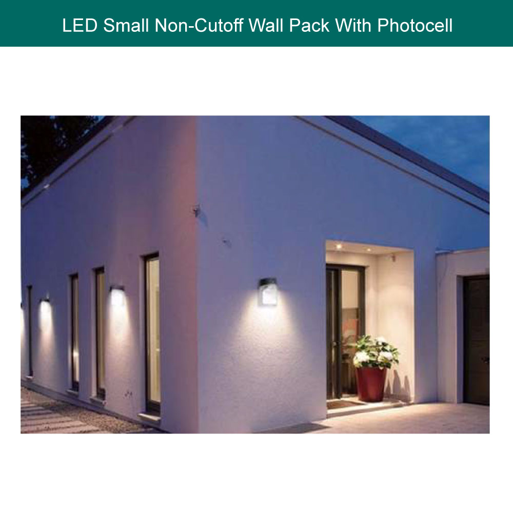 Small LED Wall Pack With Photocell