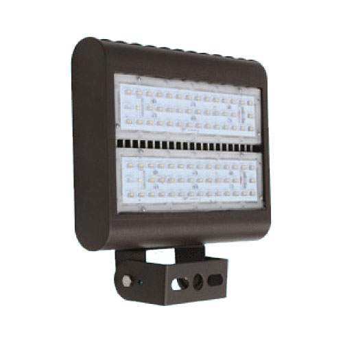 LED Exterior Flood Light Fixture - Can be used for all LED Outdoor Flood Lighting Requirements, 100 Watt - 10,000 Lumens, With Adjustable U-Bracket Yoke Mount