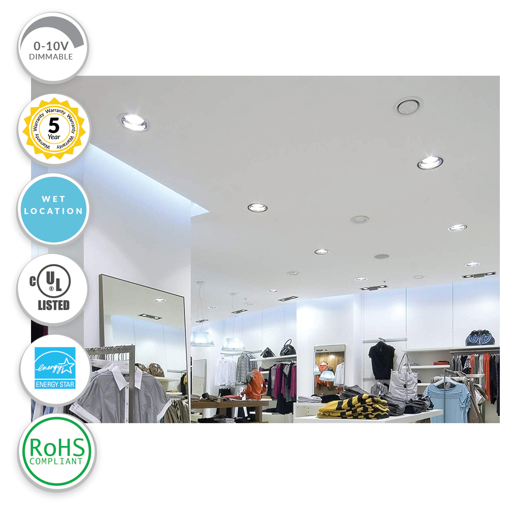 Commercial LED Recessed Downlight Retrofits - Installs into existing recessed housing or frame-in kit.