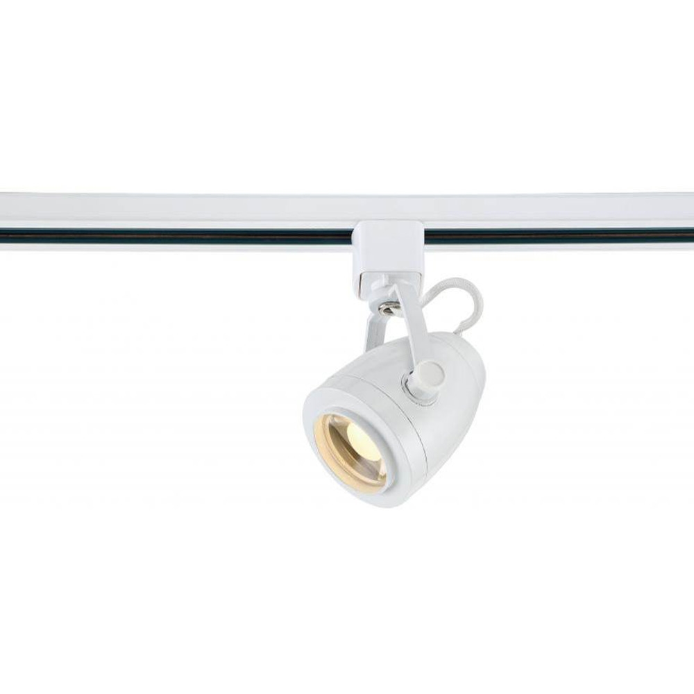 """Decorative LED Track Lighting Fixture with Pinch Back Head, White Finish, 24<sup style=""""font-size:14px"""">o</sup> Beam, 12 Watt - 820 Lumens, 3000K Soft White Color Temperature,"""