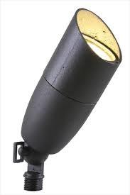 Cast Aluminum Directional Flood Light - Black -   Includes Integrated12V LED MR16 3000K - AD-003-BK