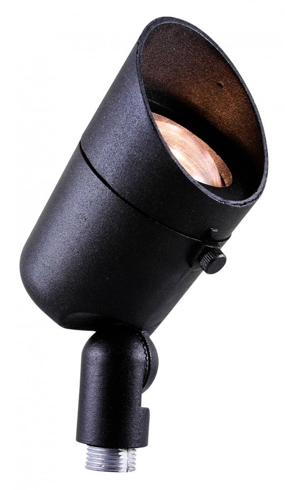 Cast Aluminum Directional Flood Light - Black - Uses 12V MR16 123