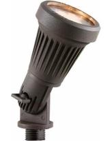 Cast Aluminum Landscape Flood Light - Powdered-Coated Bronze -  Includes 12V LED MR16 3000K Bulb - AD-130-BR