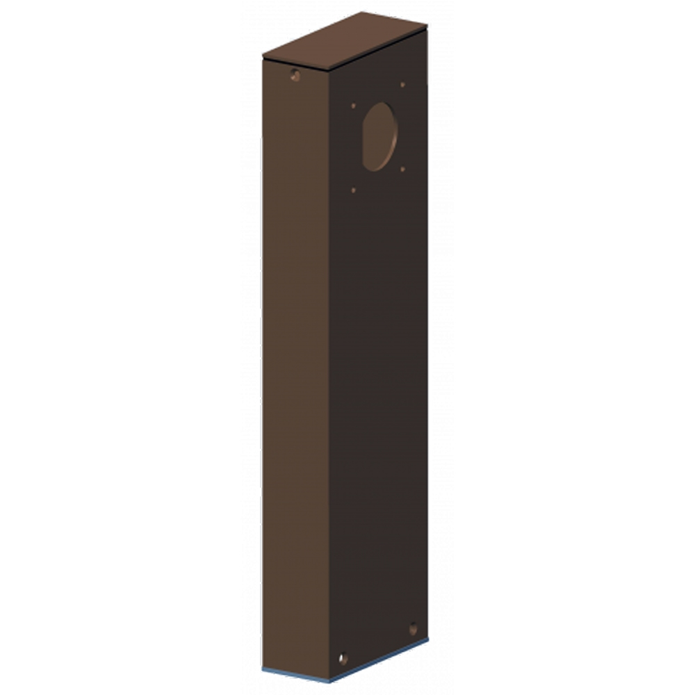 LED Path Light Post With Bronze Finish - One Sided 18 Inch Tall