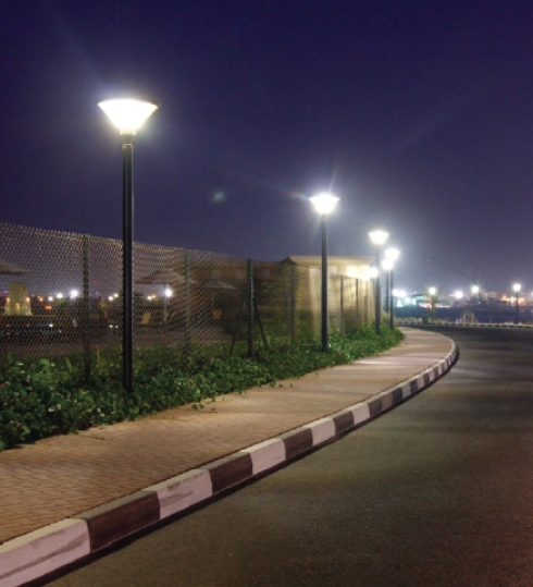 LED Pole Light Fixtures With Pole Bracket Mount - 75 Watt, 9750 Lumens