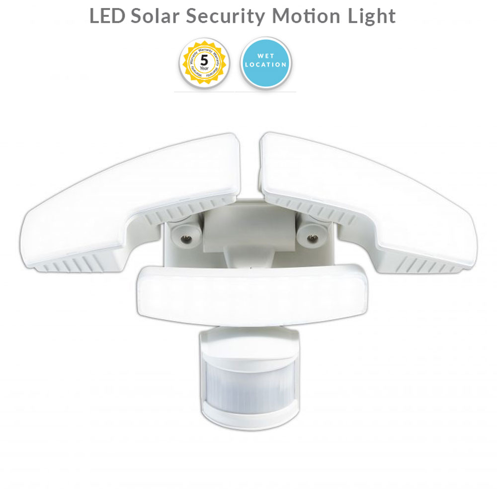 Solar LED Security Motion Light - 1500 LUMENS