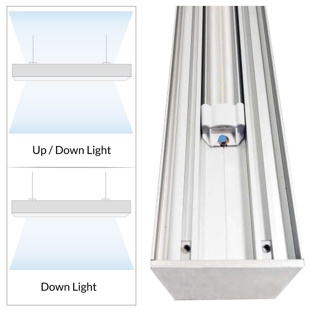 LED Conference Room Lighting -  Suspended Office Light - 5000K Daylight Color Temperature