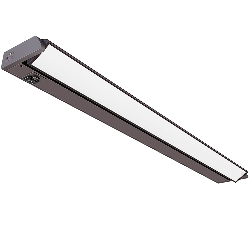 33 inch LED Undercabinet Light - 16 Watt, Bronze, with swivel lens, changeable color temperature and hi-low switch