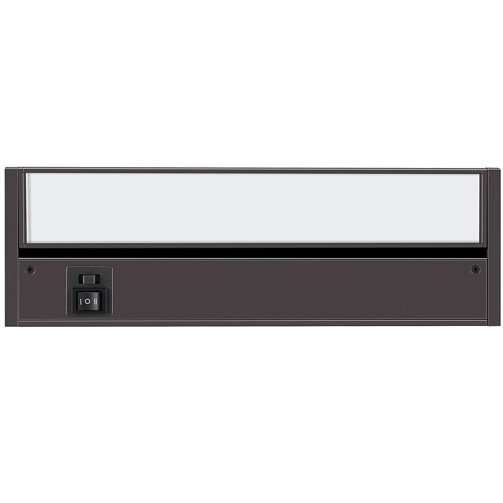 8 inch LED Undercabinet Light - 3 Watt, Bronze, with swivel lens, changeable color temperature and hi-low switch