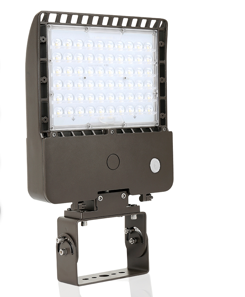 70 Watt LED Parking Lot Area Light 5000K Color Temperature with Trunnion and PIR Motion Sensor