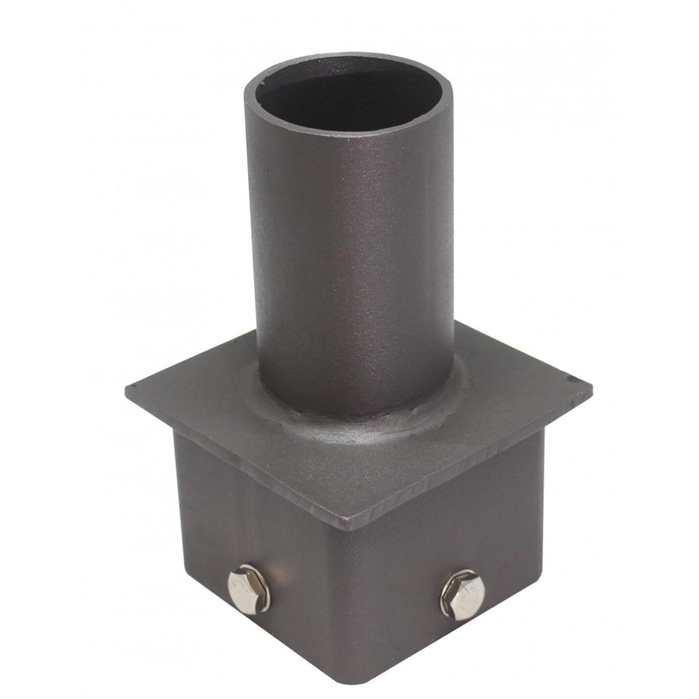 Square Pole Vertical Tenon, 5 Inch Bronze