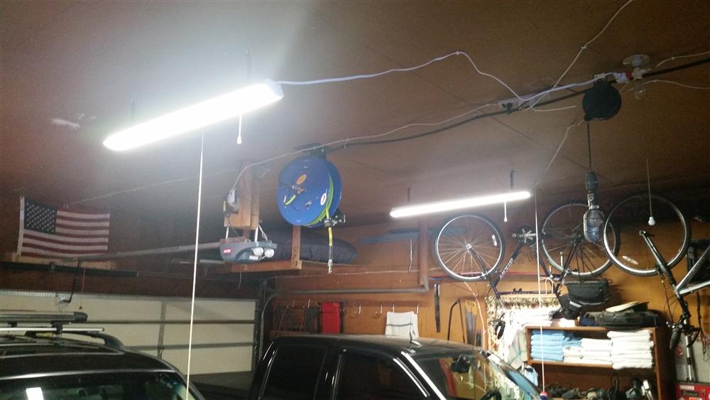 buy popular 8b95c 8d808 48 Watt LED Garage Shop Light Fixture - 4 Foot Ceiling Mount