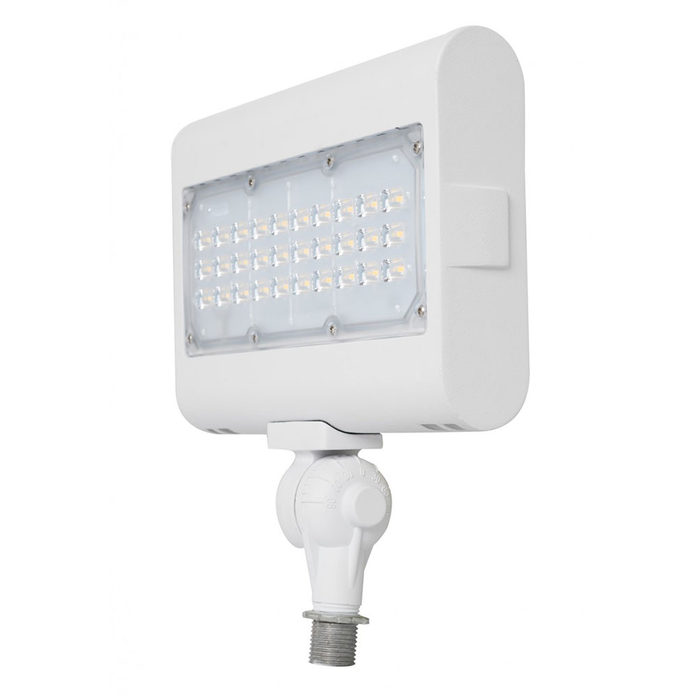 Led Landscape Light Can Be Used For All Led Outdoor Flood Light Requirements 50 Watt 5600 Lumens With Adjustable Knuckle Mount White Housing