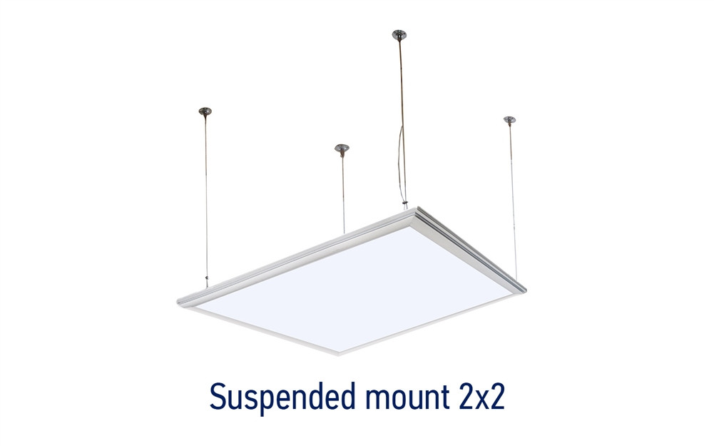 Led Flat Panel 2x2 4000k Cool White Dimmable With Extra Suspension Hanging Kit