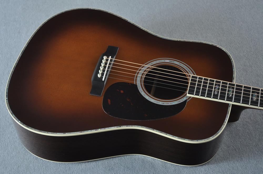 Martin D-41 Ambertone Standard Acoustic Guitar #2241863 - Top Angle