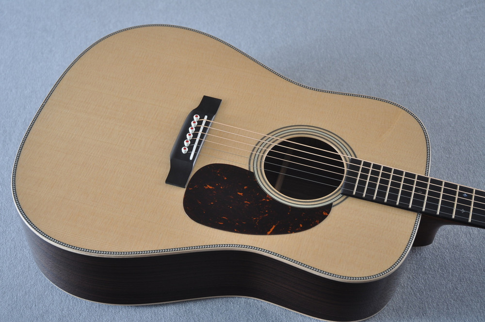 Martin D-28 Modern Deluxe Acoustic Guitar #2247801 - Top Angle