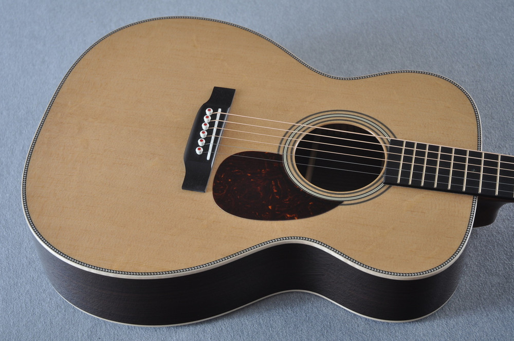 Martin OM-28 Modern Deluxe Acoustic Guitar #2246100 - Top Angle