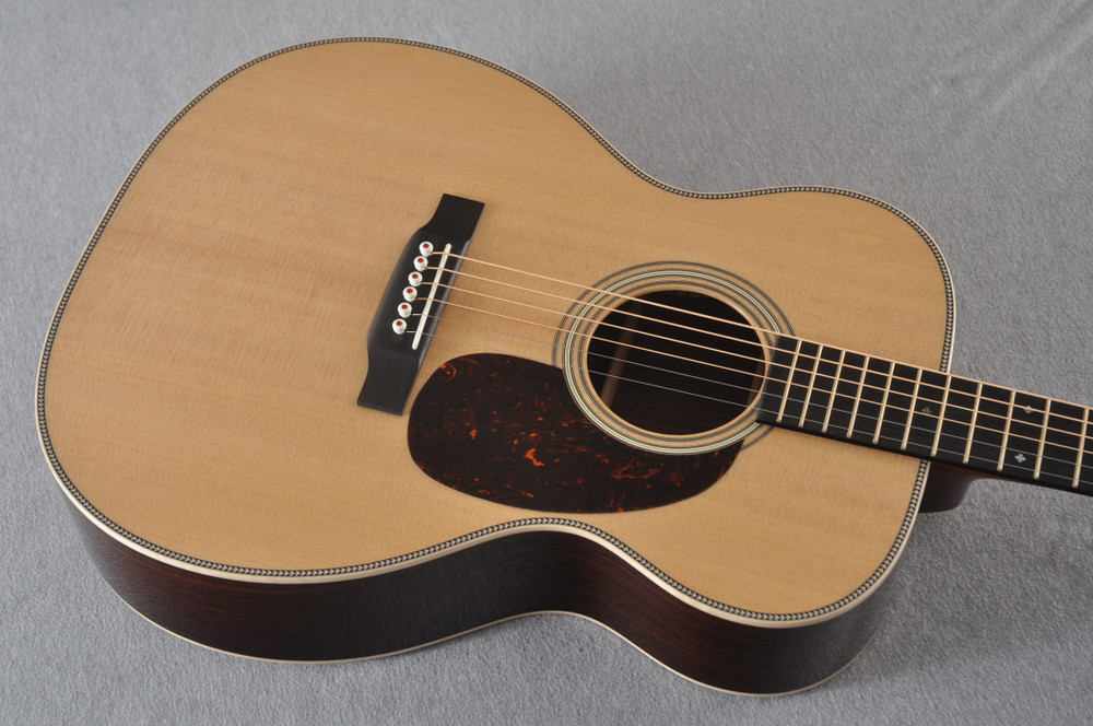Martin 000-28 Modern Deluxe Acoustic Guitar #2276555 - Top Angle