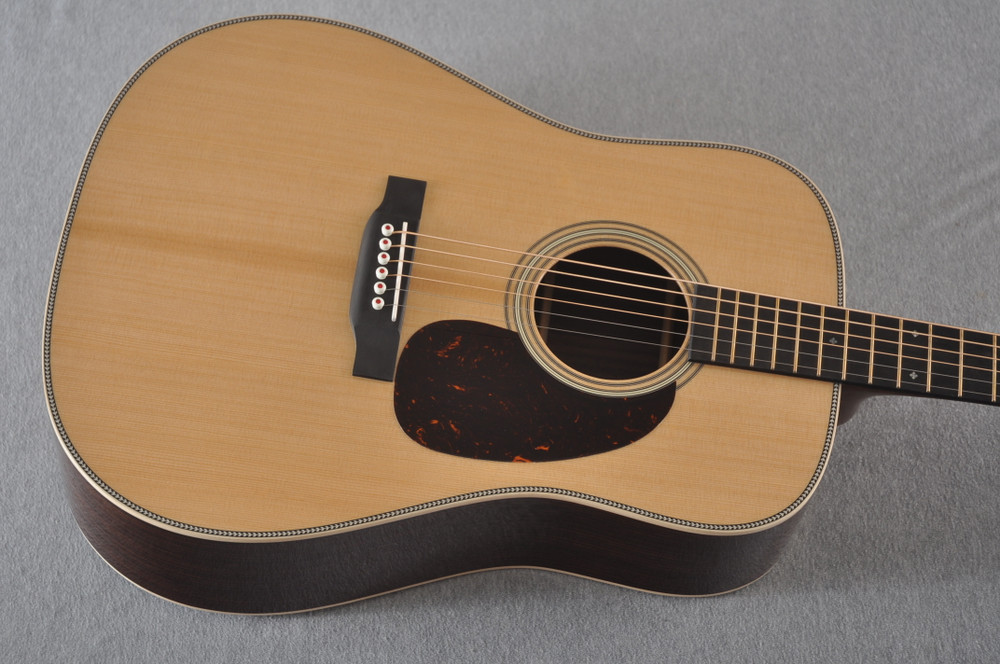 Martin D-28 Modern Deluxe Acoustic Guitar #2282383 - Top Angle
