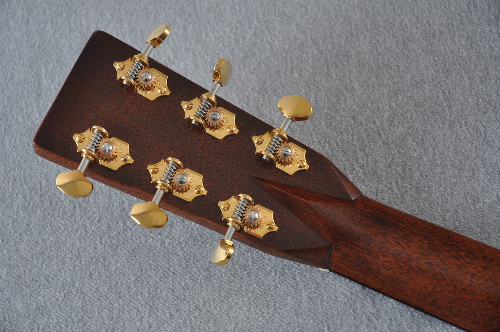 Martin D-28 Modern Deluxe Acoustic Guitar #2247802 - Back Headstock